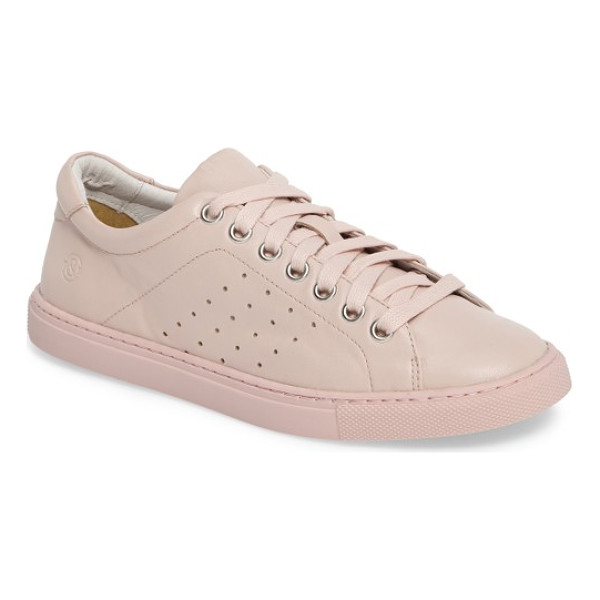 TREASURE & BOND molo perforated sneaker - A low-top leather sneaker sports tiny perforations along...