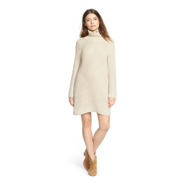 TREASURE & BOND turtleneck sweater dress - A ribbed sweater-dress knit in a soft cotton blend keeps...
