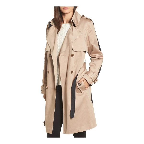 TRINA TURK allison two-tone trench coat - Refresh your essential trench with this two-faced beauty...