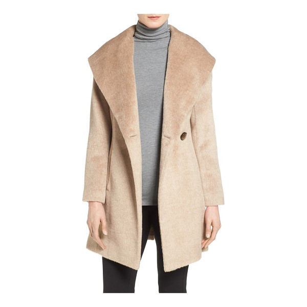 TRINA TURK petite   'bonnie' shawl collar skirted coat - An infusion of plush alpaca lends sumptuous softness to a...