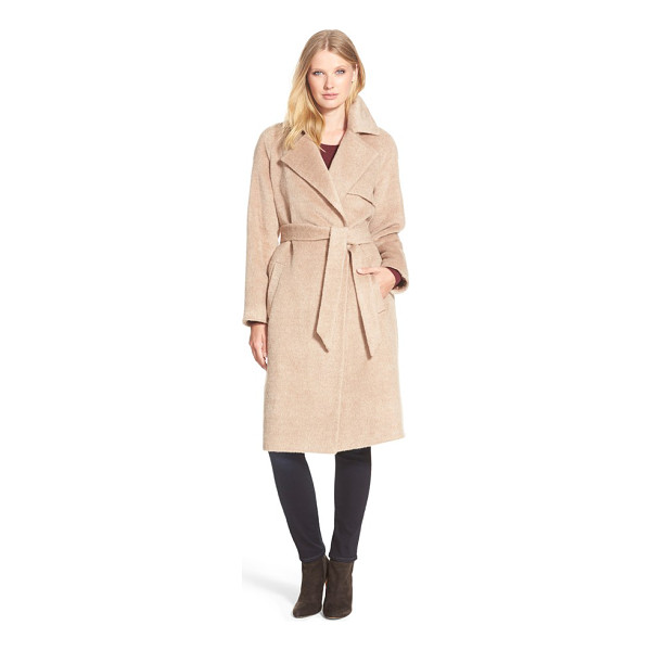 TRINA TURK delaney long wrap trench coat - Trench-inspired design and an elegantly long length bring...