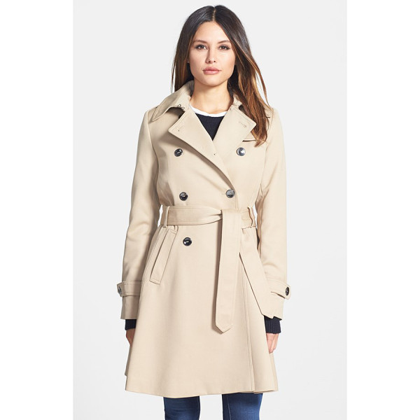 TRINA TURK gwyneth flared wool gabardine trench coat - A polished wool-gabardine trench gets practicality from a...