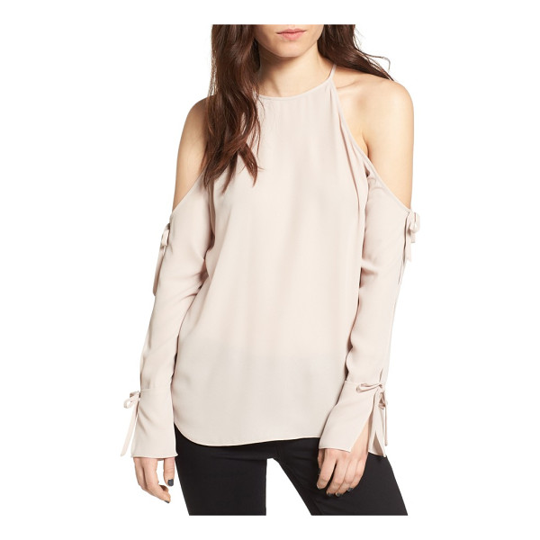 TROUVE cold sholder blouse - Unexpected flashes of shoulder take center stage in an airy...
