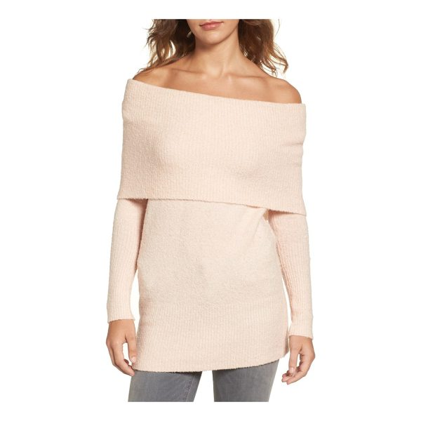 TROUVE off the shoulder tunic - The changing seasons is no reason why your shoulders have...