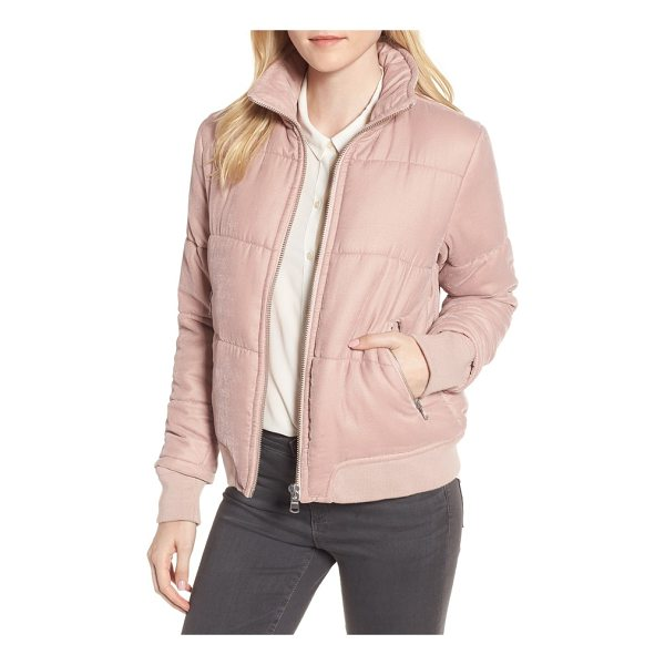 TROUVE quilted velvet jacket - Revel in throwback '80s style with this quilted velvet...