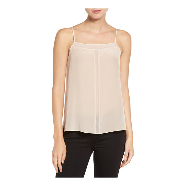 TROUVE sheer inset silk camisole - Sheer insets reveal subtle glimpses of skin along the...