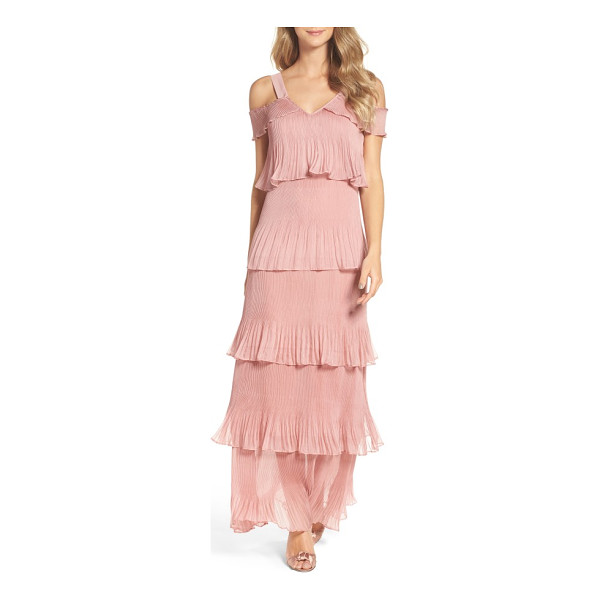 TRUE DECADENCE cold shoulder ruffle gown - Rock the ruffle trend at your next special event in this...