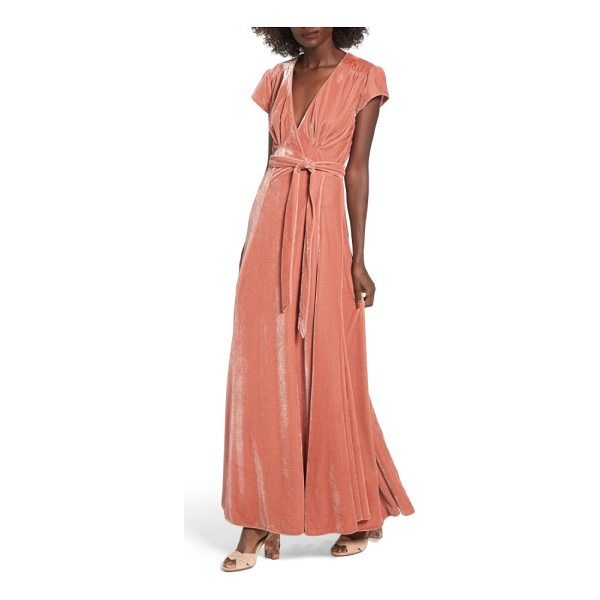TULAROSA sid velvet wrap maxi dress - Colored velvet-one of the biggest trends of the...