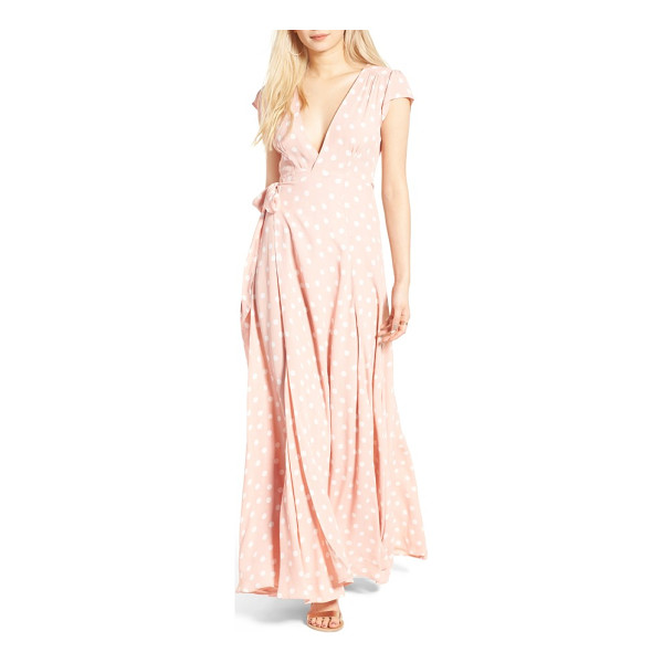 TULAROSA sid wrap maxi dress - Revel in the lush fullness of the swishy skirt flowing from...
