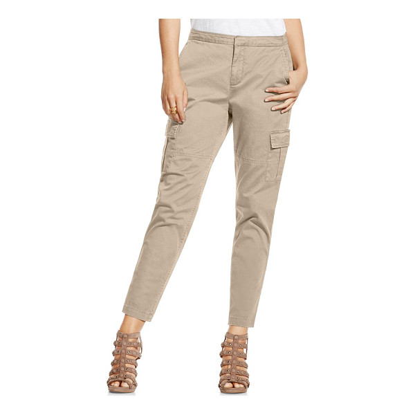 TWO BY VINCE CAMUTO cotton chino crop cargo pants - Lightweight cotton enhances the relaxed look of cargo-style...