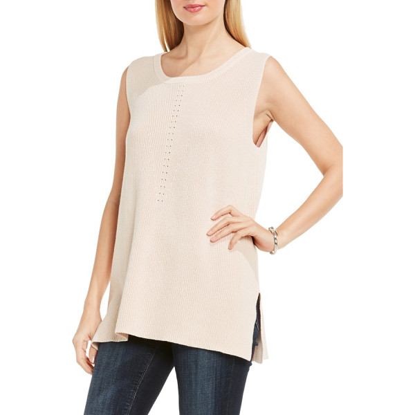 TWO BY VINCE CAMUTO rib knit tunic - Simple but sophisticated, this knit tunic features a...