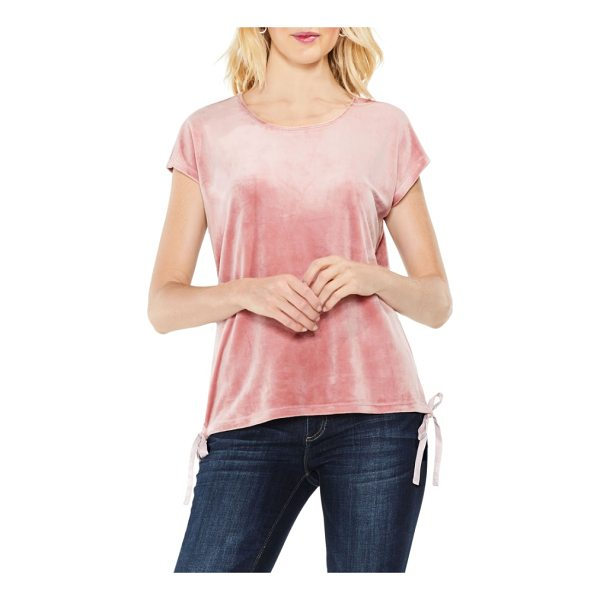 TWO BY VINCE CAMUTO vince camuto side tie velour top - An everyday top is upgraded in soft, stretchy velour with...
