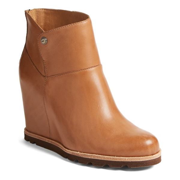 UGG ugg 'amal' wedge boot - A lugged sole underscores the utilitarian appeal of a...