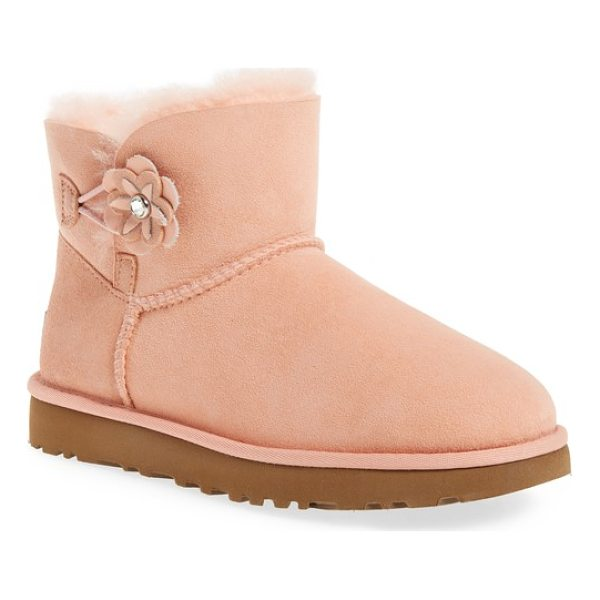 UGG bailey petal genuine shearling lined mini boot - Studded flowers embellish the back of a fan-favorite UGG...