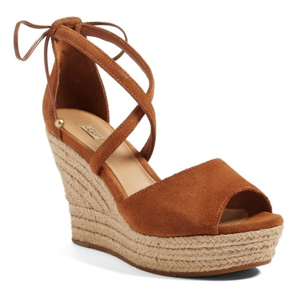 UGGR ugg reagan sandal - An espadrille wedge adds ample vintage appeal to an