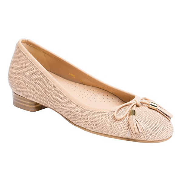 UKIES lara ballet flat - A prim tasseled bow details the rounded toe of a...