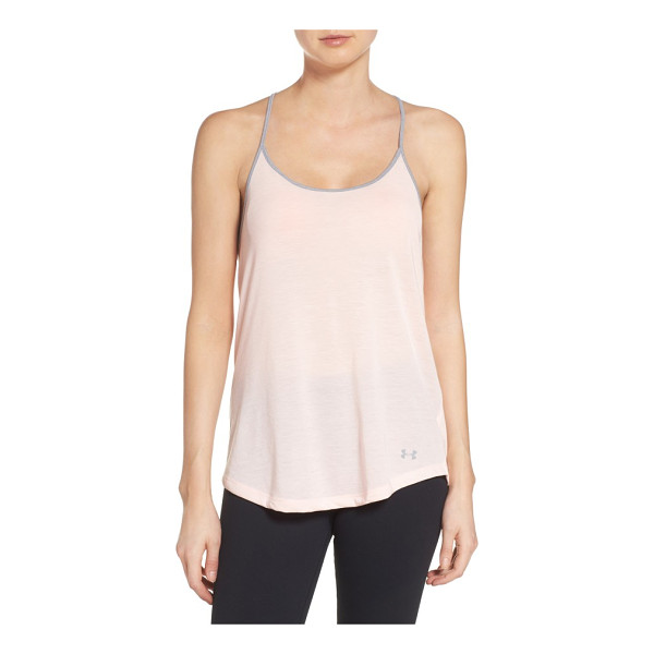 UNDER ARMOUR threadborne tank - A breathable performance knit, swingy cut and delicate...