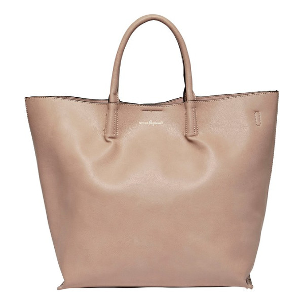 URBAN ORIGINALS butterfly faux leather tote - A clean, uncomplicated design elevates the look of a roomy