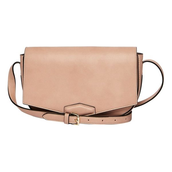 URBAN ORIGINALS loved vegan leather crossbody bag - An angled flap and clean styling define this structured...
