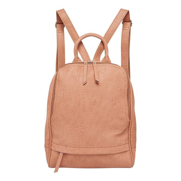 URBAN ORIGINALS my way vegan leather backpack - An exterior zip pocket makes a great place to stash your...