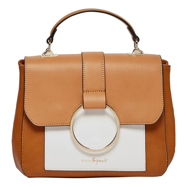 URBAN ORIGINALS reckless destiny faux leather satchel - Elevate your street-style game with a color-blocked