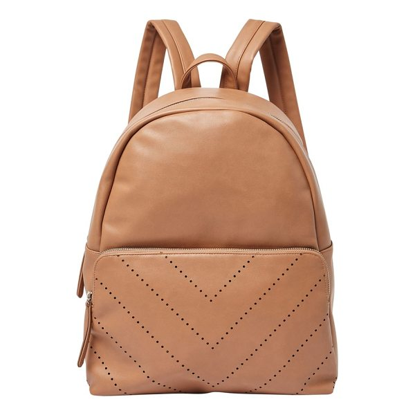 URBAN ORIGINALS the free vegan leather backpack - A perforated chevron design livens up the look of a durable...