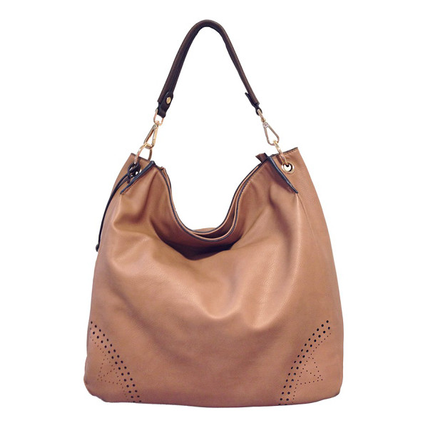 URBAN ORIGINALS Utopia perforated hobo - Mod perforations highlight the corners of a chic, slouchy...