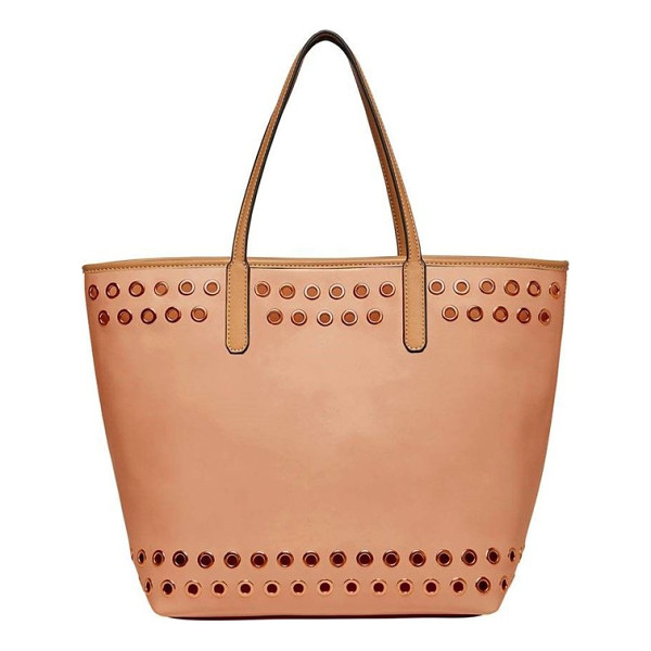 URBAN ORIGINALS wonderland vegan leather tote & shoulder bag - Gleaming grommets add a bit of rock-and-roll attitude to a