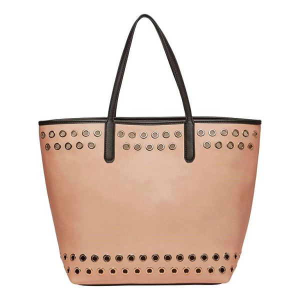 URBAN ORIGINALS wonderland faux leather tote & shoulder bag - Gleaming grommets add a bit of rock-and-roll attitude to a