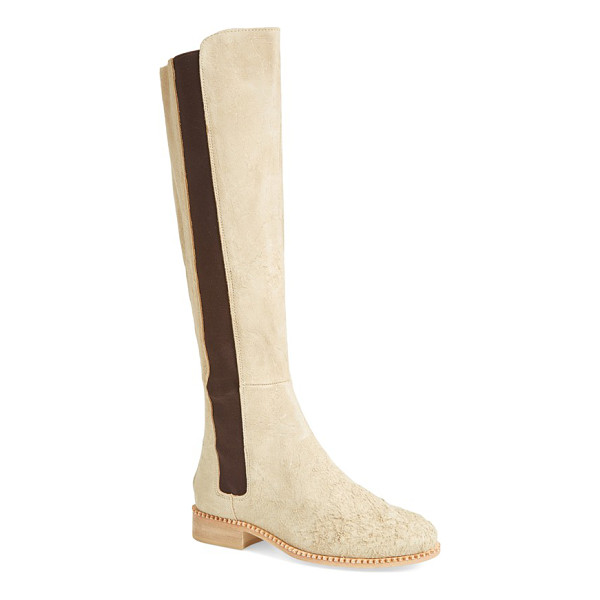 FREE PEOPLE callow tall boot - Chelsea-boot style takes a dramatic turn on a tall riding...