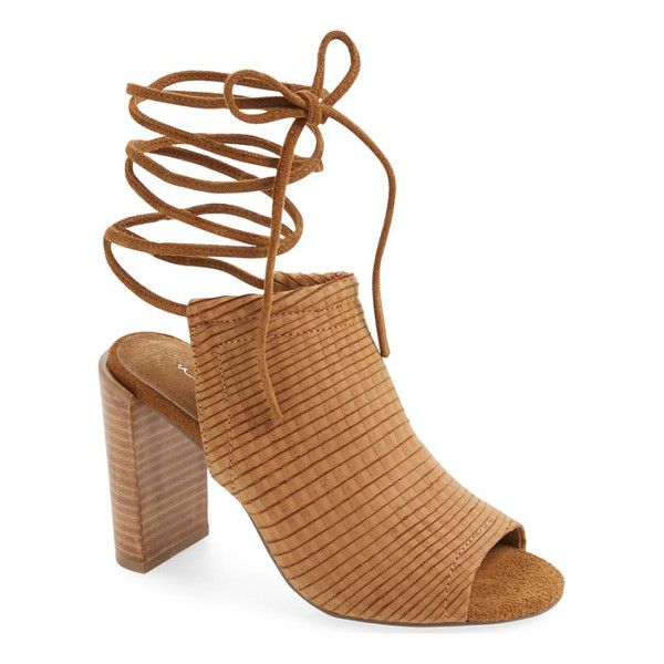 URGE eve lace-up mule sandal - A contemporary mule sandal with slender, leg-wrapping laces...