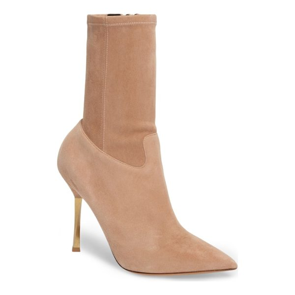 VALENTINO twisteel stiletto bootie - A twisted-metal spike heel and a crisply pointed toe...