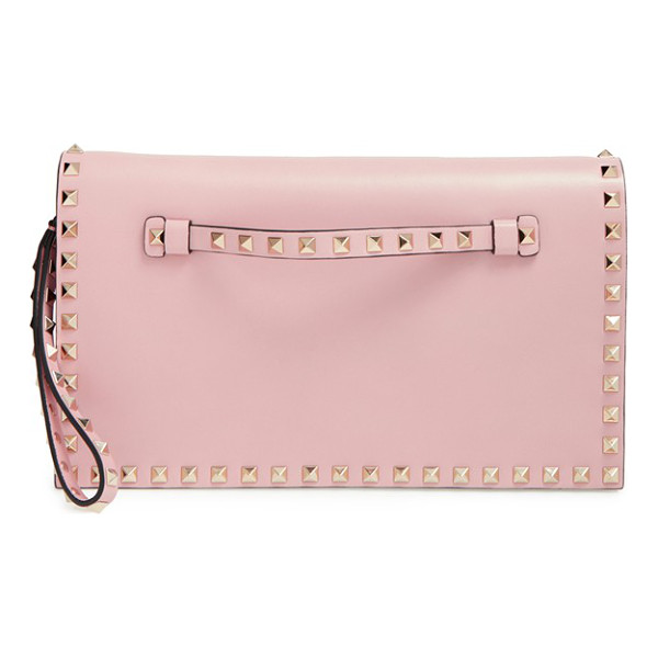 VALENTINO Large rockstud leather flap clutch - Whether you want to add an opulent edge to casual daywear...