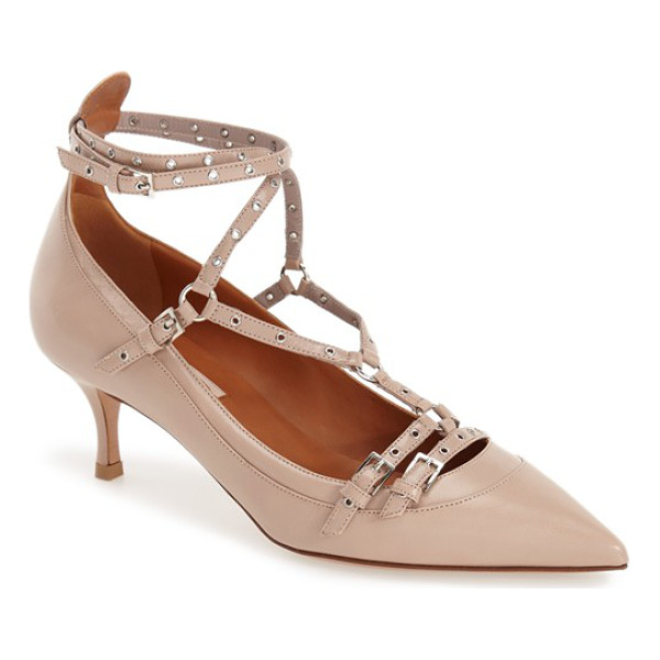 VALENTINO love latch pointy toe pump - With its buckle detailing, slender straps punctuated by...