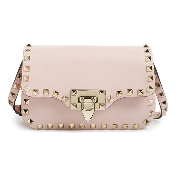 VALENTINO 'mini rockstud' crossbody bag - Signature rockstuds trace the clean, modern profile of a...
