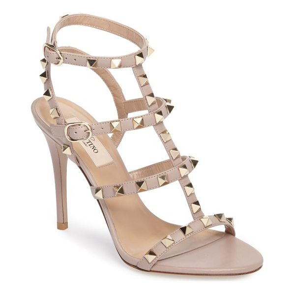 VALENTINO 'rockstud' ankle strap sandal - Valentino's signature Rockstuds spice up the color-pop