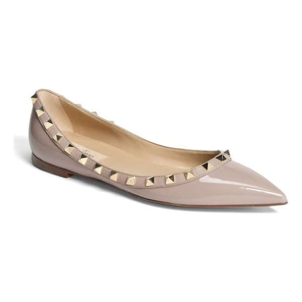 VALENTINO rockstud ballerina flat - Gilded pyramid studs add edgy opulence to an iconic...