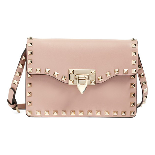 VALENTINO Rockstud calfskin leather shoulder bag - Signature pyramid studs trace the clean, modern profile of...
