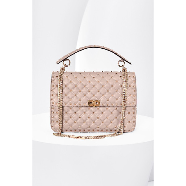 VALENTINO valentino 'rockstud matelasse' shoulder bag - Signature studs emphasize the quilted texture of a...