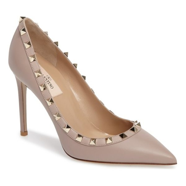 VALENTINO rockstud pointed pump - Valentino's now legendary rockstuds encircle the topline of...