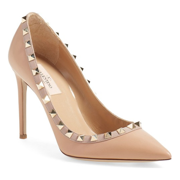 VALENTINO 'rockstud' pump - Gilded pyramid studs add edgy opulence to an iconic...