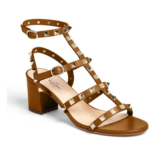 VALENTINO rockstud sandal - Shining, signature pyramid studs amp the edge on a strappy,...