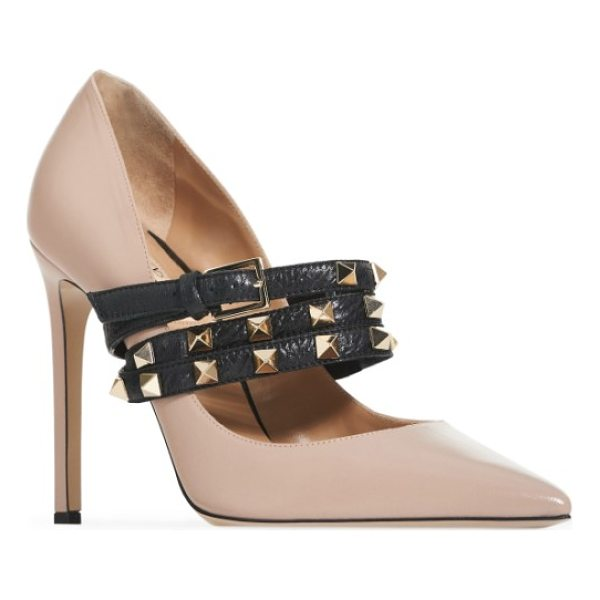 VALENTINO rockstud wrap pump - A classic pointy-toe pump elevated by a towering stiletto...