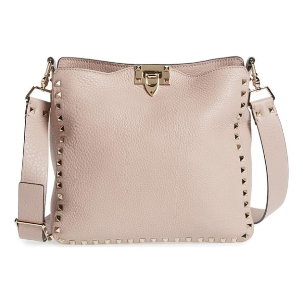 VALENTINO small rockstud leather hobo - Featuring an adjustable crossbody strap for carrying...