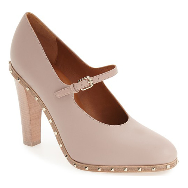 VALENTINO soul stud mary jane pump - Valentino's signature Rockstud detailing takes on a more...