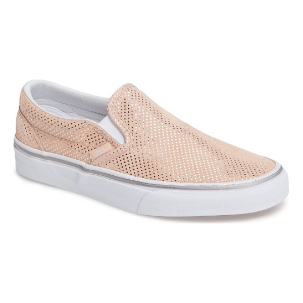 VANS classic slip-on sneaker - A classic slip-on sneaker is given a street-style update...