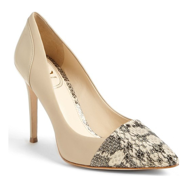 VC SIGNATURE peony pump - Patent leather and snakeskin accents lend an element of...