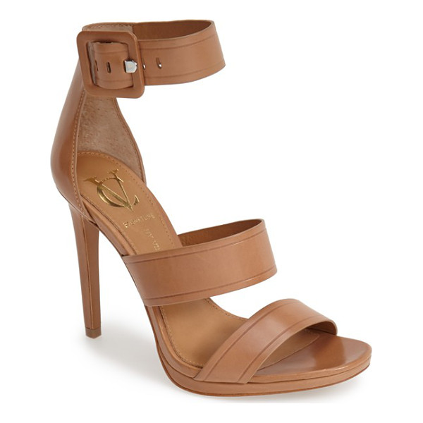 VC SIGNATURE sabrina leather ankle strap sandal - Smooth leather composition and a monochrome buckle...