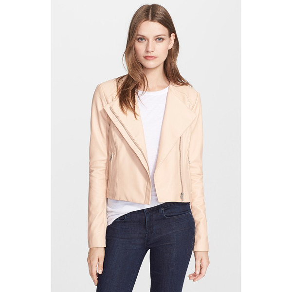 VEDA dali leather jacket - A sleek, yet buttery-soft, leather jacket boasts a classic...