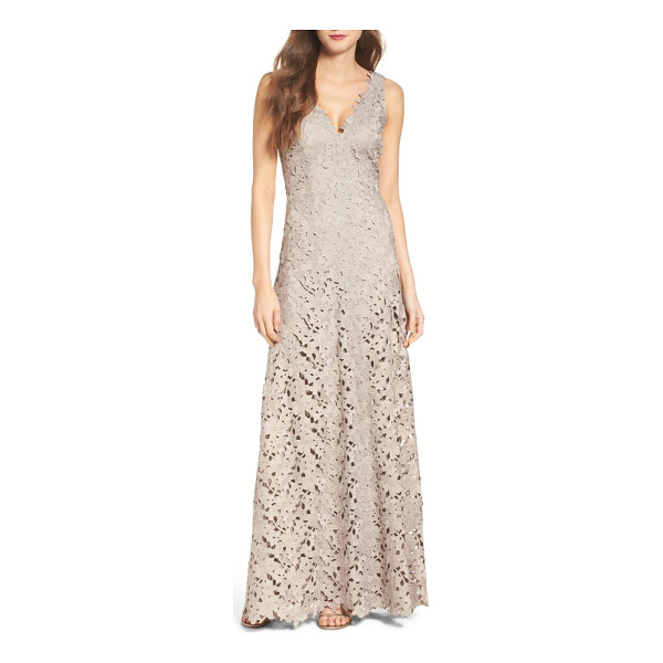VERA WANG lace gown - This ageless A-line gown is neutral, versatile and so, so...